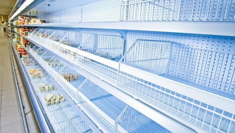 Супермаркет магазин пустые полки