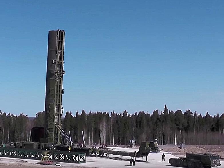 Российский перспективный ракетный комплекс РС-28 «Сармат»