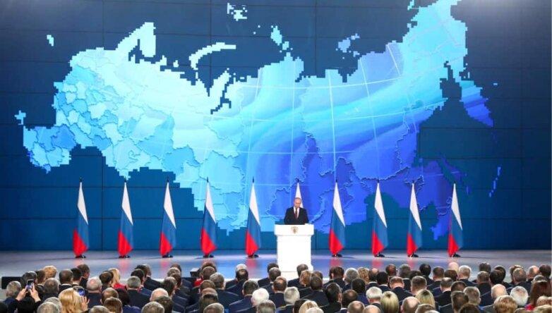 Путин выступление перед Федеральным собранием