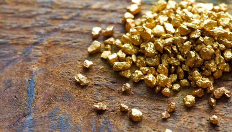 Россыпное золото