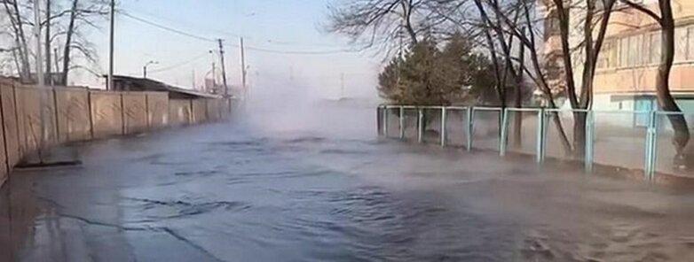 Прорыв канализации в Хабаровске