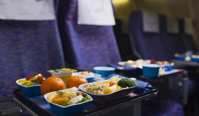 еда самолет обед завтрак