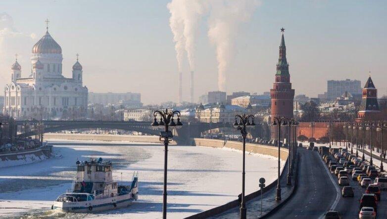 Москва, зима, солнце, мороз