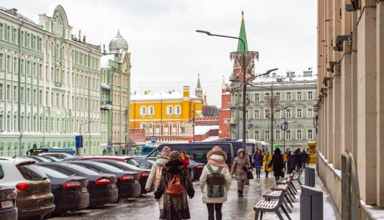 Москва, зима, оттепель