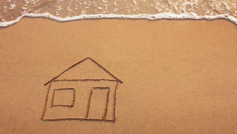 Пляж, песок, рисунок