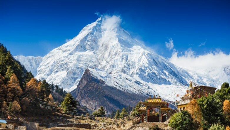 Гималаи, Непал, горы, снег, ледник