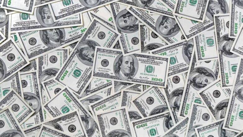 Доллары, деньги, банкноты, валюта