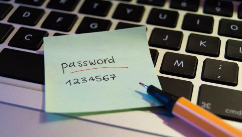 Простой пароль, ненадёжный, небезопасный, password