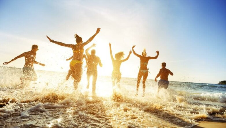 Курорт, отдых, отпуск, лето, пляж, море, океан, туристы, туризм
