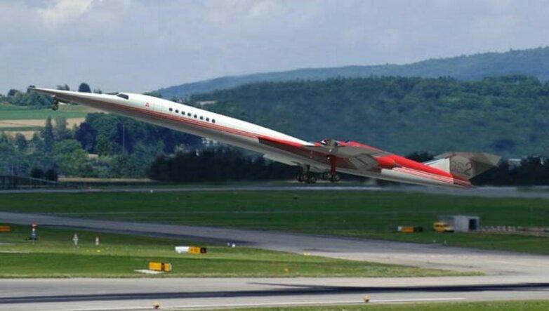 Рендер сверхзвукового бизнес-джета Aerion AS2, самолёт