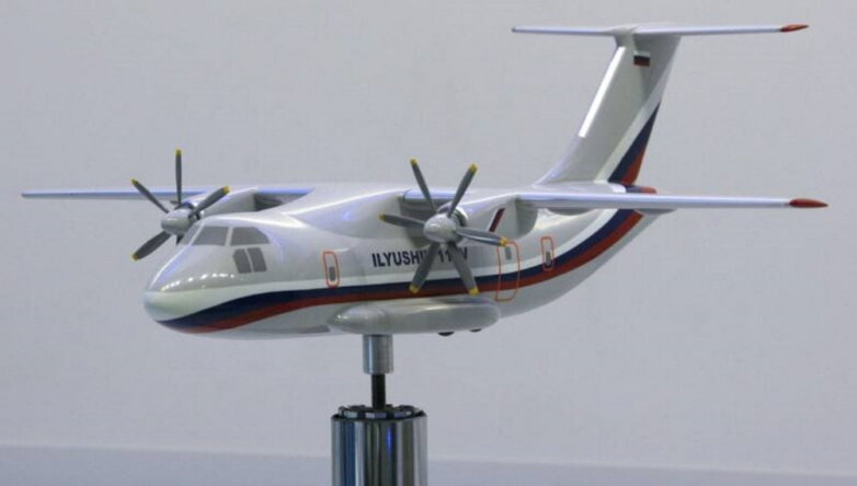 Макет легкого военно-транспортного самолета Ил-112В