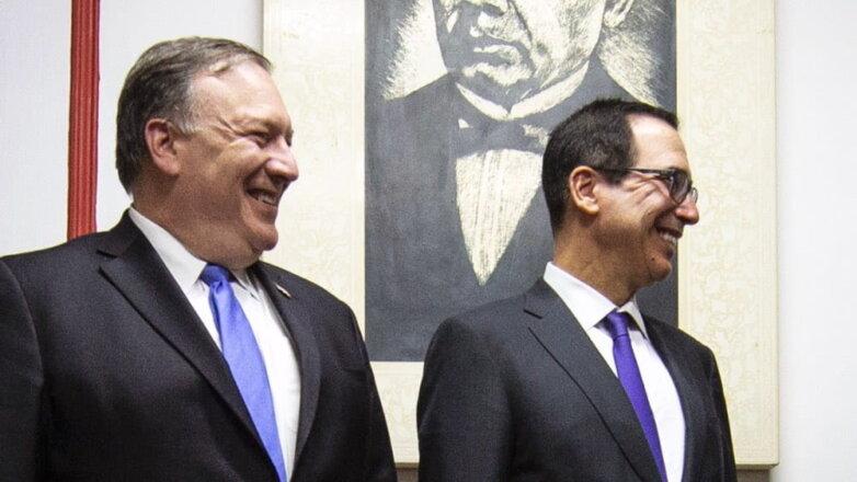 Госсекретарь Майкл Помпео и министр финансов Стивен Мнучин