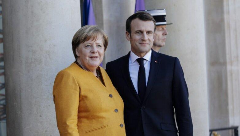 Канцлер ФРГ Ангела Меркель и президент Франции Эмманюэль Макрон