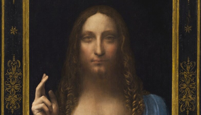 """Фрагмент картины """"Спаситель мира"""", Леонардо да Винчи"""