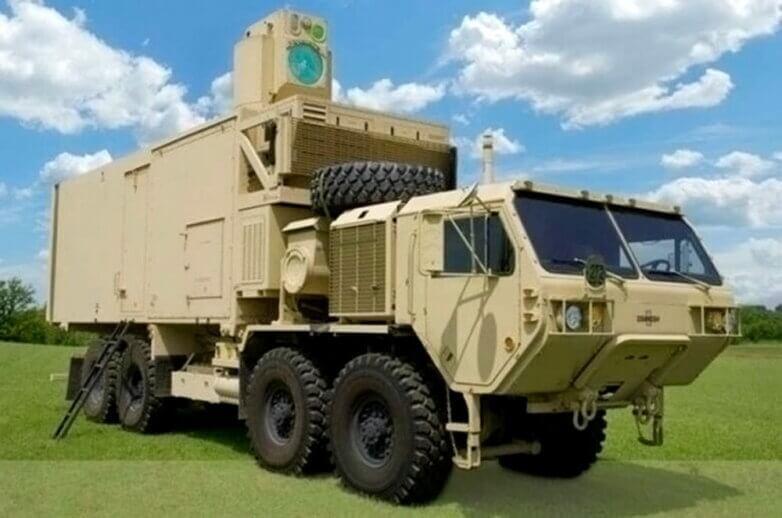 Армейский боевой лазер, установленный на тяжелом грузовике HEMTT