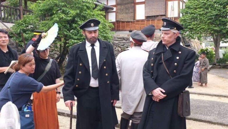 Фото со съёмок фильма «В плену у сакуры»