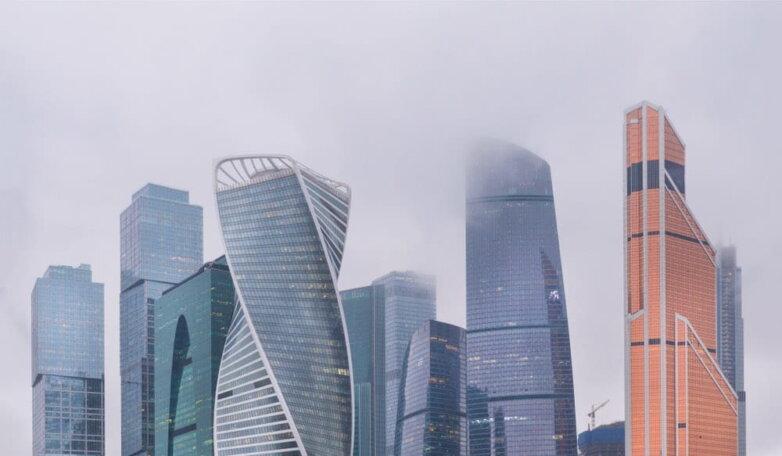 Пасмурно Москва-Сити