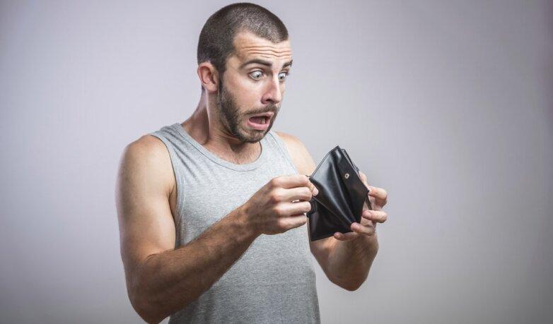 нет денег, прожиточный минимум, кошелёк