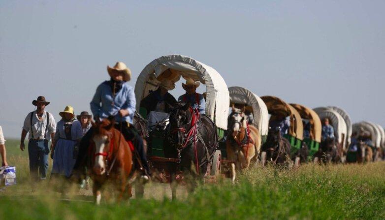 Переселенцы, историческая реконструкция освоения Запада США
