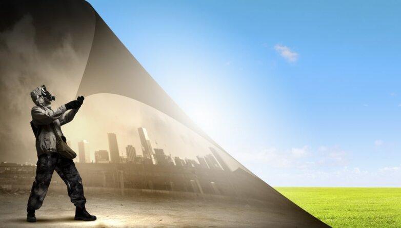 Загрязнение, экология, окружающая среда,чистый воздух