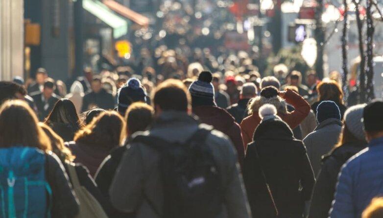 Люди, улица, зима