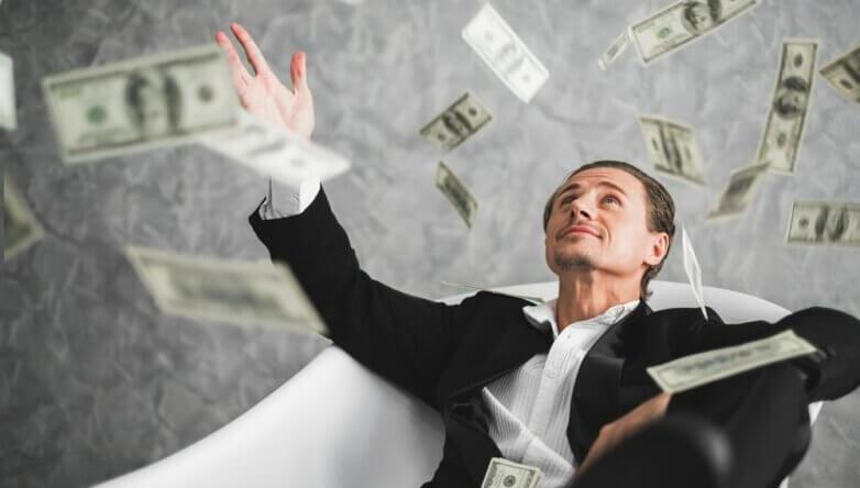 Богатый доллары миллионер миллиардер