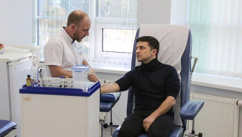 Кандидат на пост президента Украины Владимир Зеленский сдаёт анализы на наркотики
