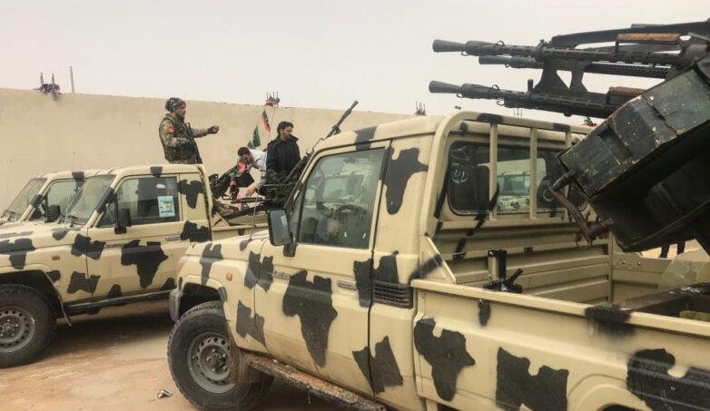 Оппозиционные войска в Ливии