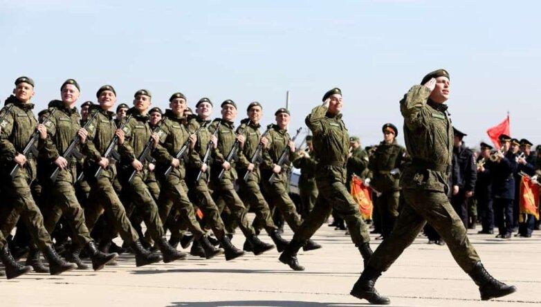 Репетиция Парада Победы на полигоне в подмосковном Алабино