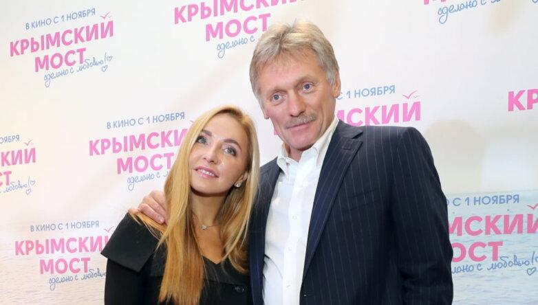 Фигуристка Татьяна Навка и пресс-секретарь президента РФ Дмитрий Песков