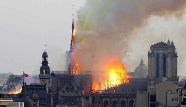 15.04.2019 Пожар в Соборе Парижской богоматери