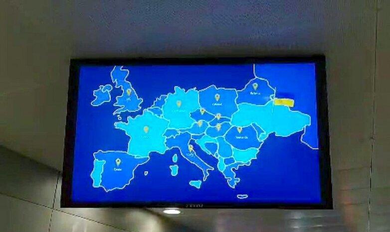 Украина без Крыма, карта