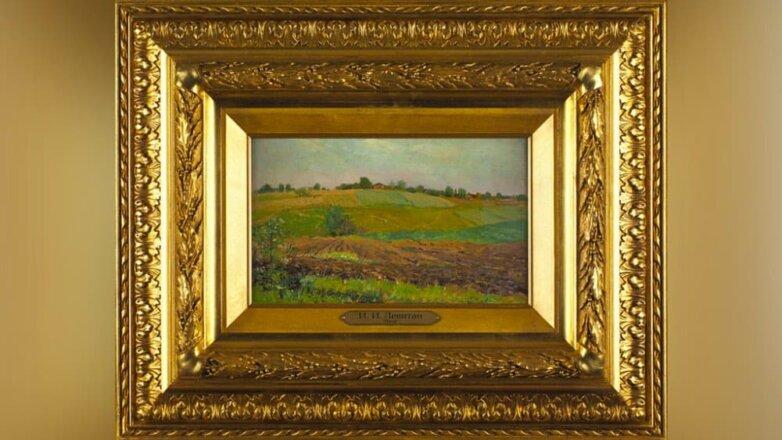 "Исаак Левитан, ""Летний пейзаж. Пашня"" (1880-1890)"