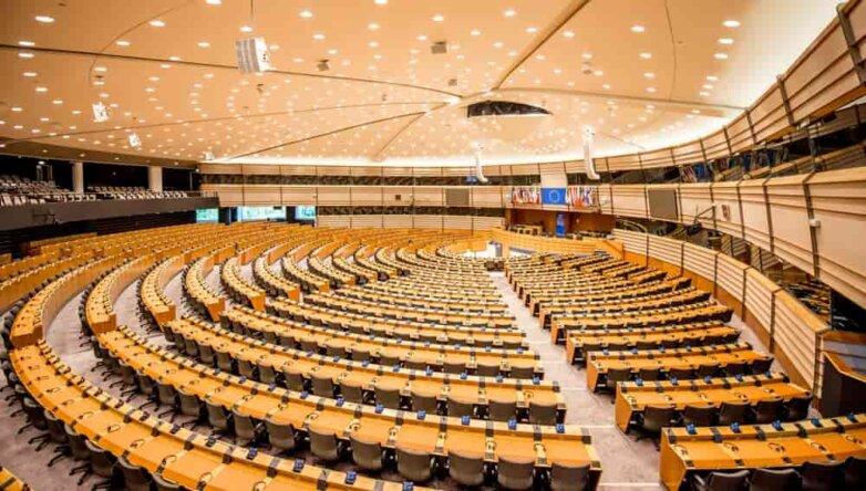 Зал заседаний Европарламента в Брюсселе