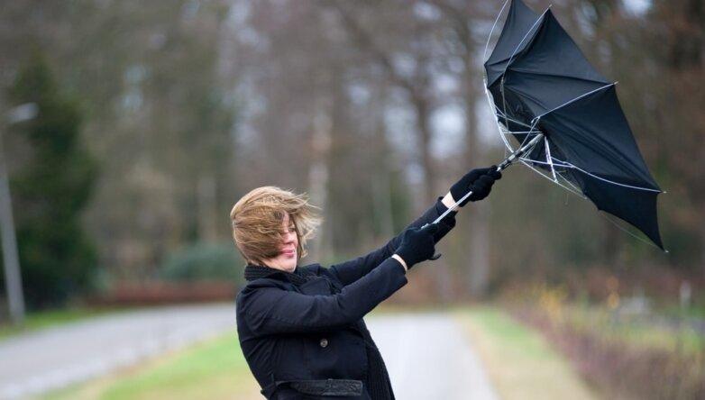 Погода ветер зонтик весна