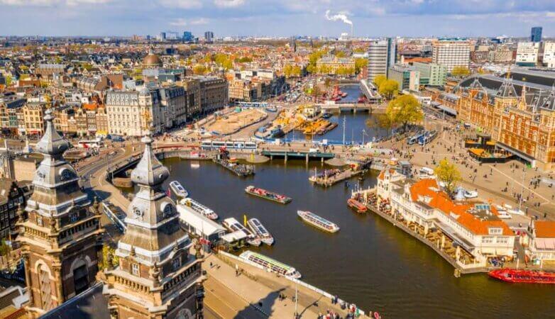 Амстердам, городская панорама
