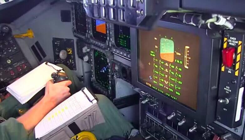 Кабина пилота B-2 spirit, бомбардировщик