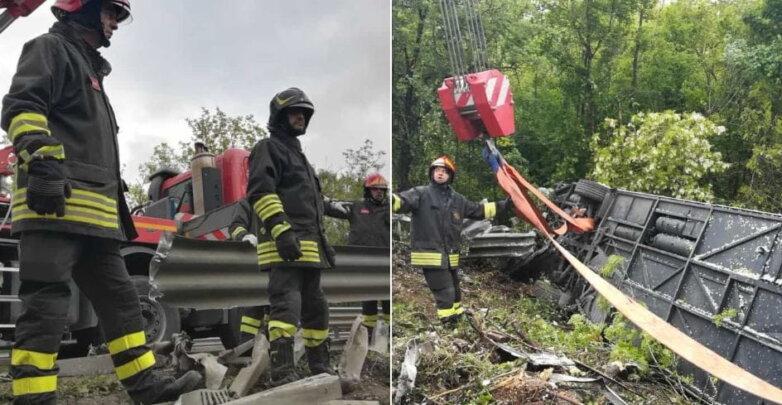 Автокатастрофа в Италии