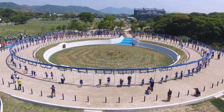 самые длинные качели, Япония
