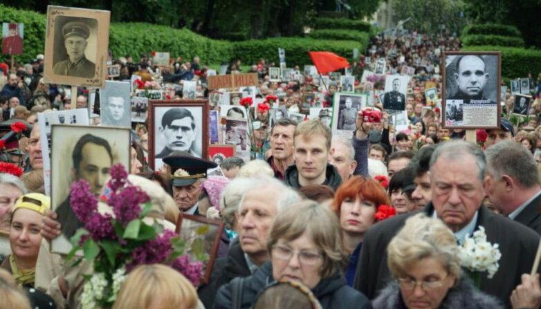 """Акция """"Бессмертный полк"""" на улицах Киева"""