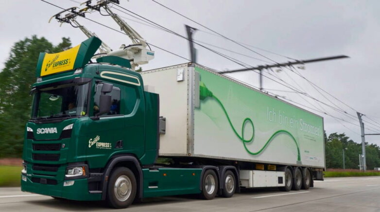 Электрический грузовик Scania