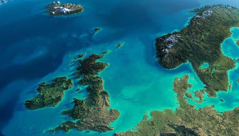 Снимок Земли со спутника