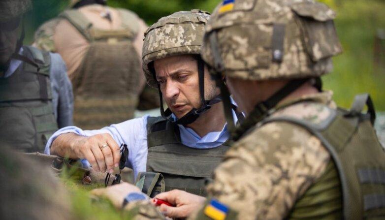 Зеленский на позициях ВСУ в Луганской области