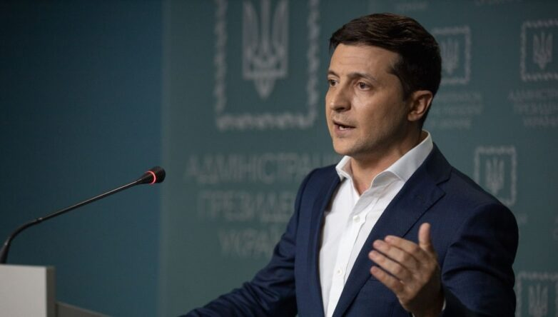 Президент Украины Владимир Зеленский выступление