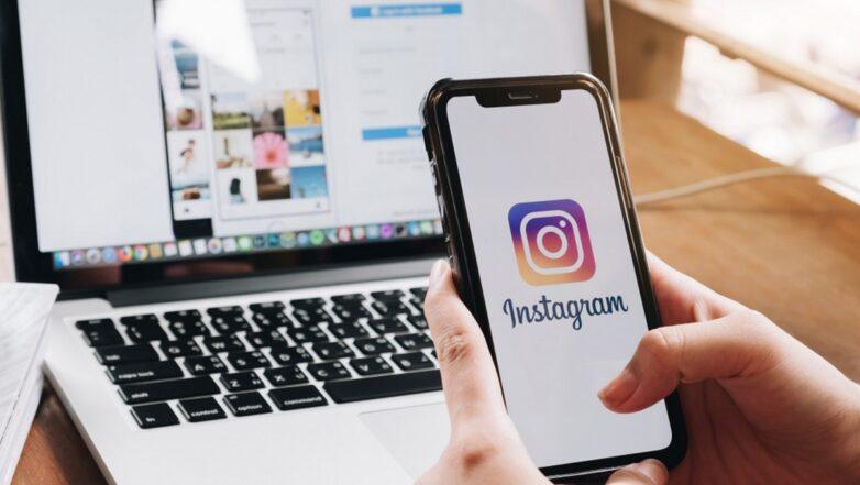 Instagram логотип ноутбук