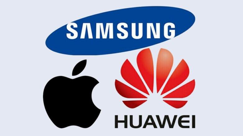 Логотипы Samsung Huawei Apple