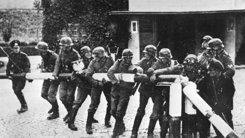 Германский блиц-криг начался 1 сентября 1939 года с нападения на Польшу