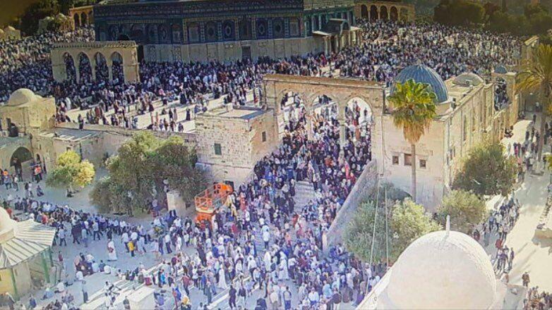 Иерусалим, столкновения мусульман с полицией на храмовой горе 耶路撒冷,穆斯林与圣殿山上的警察发生冲突