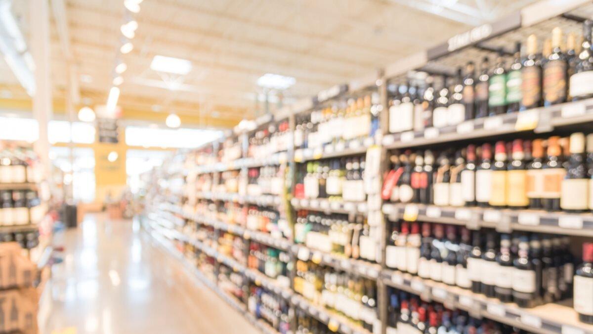 Алкоголь магазин супермаркет размытие