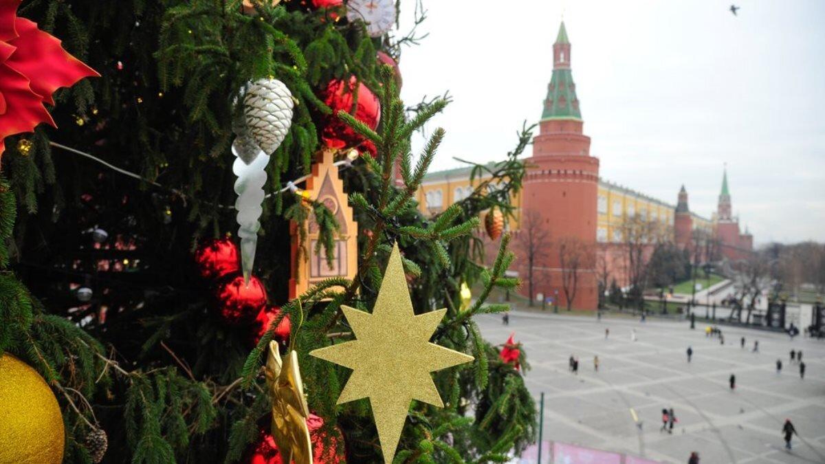 Ёлка город Москва Новый год